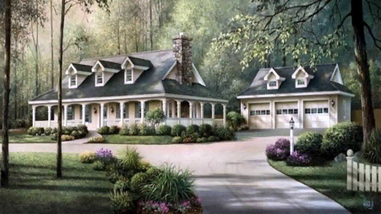 Victorian Style House Plans With Wrap Around Porches - YouTube