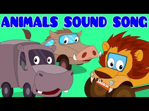 Animals Sound Song | Learning Song | Car Rhymes Compilation Video for Kids