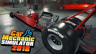 200 MPH TOP FUEL DRAGSTER - Car Mechanic Simulator 2018