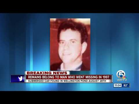 Body of man found in retention pond identified as man who went missing in 1997