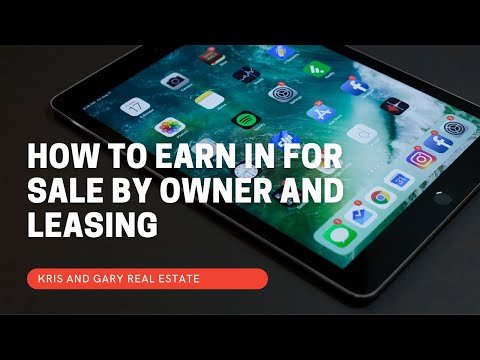 How to earn in For sale by owner and leasing