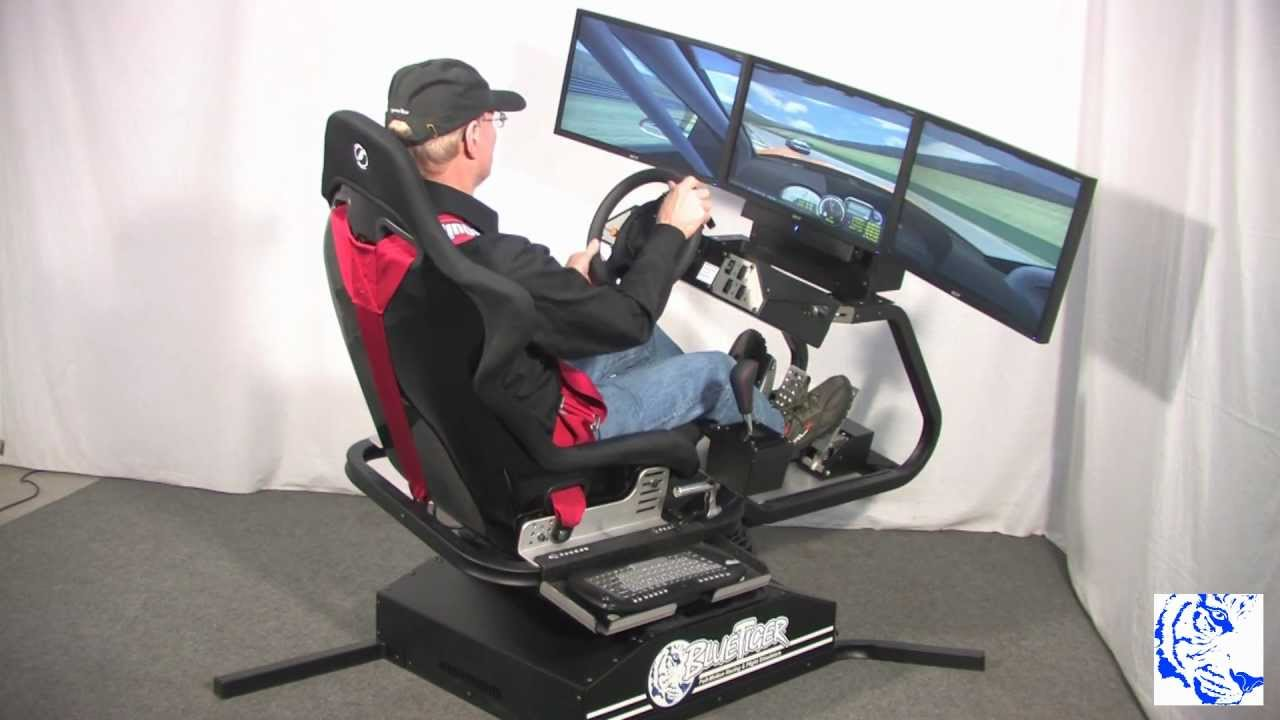 Hydraulic Racing Simulator Chair Wedding Cover Hire Bradford Bluetiger Full Motion 12 Mp4 Youtube