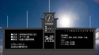 2020年1月5日の試合結果.