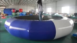 16.4ft Inflatable Water Trampoline Water Bouncer