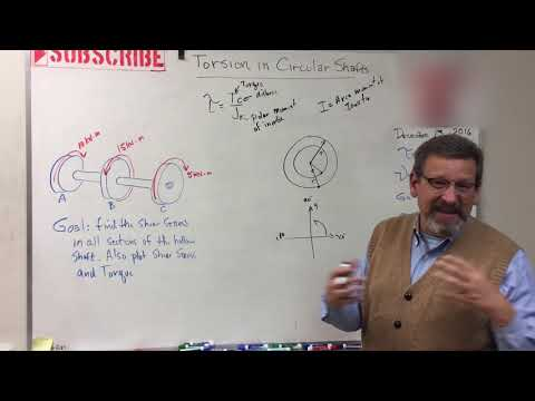 Solids: Lesson 18 - Intro to Torsion with Example Problem