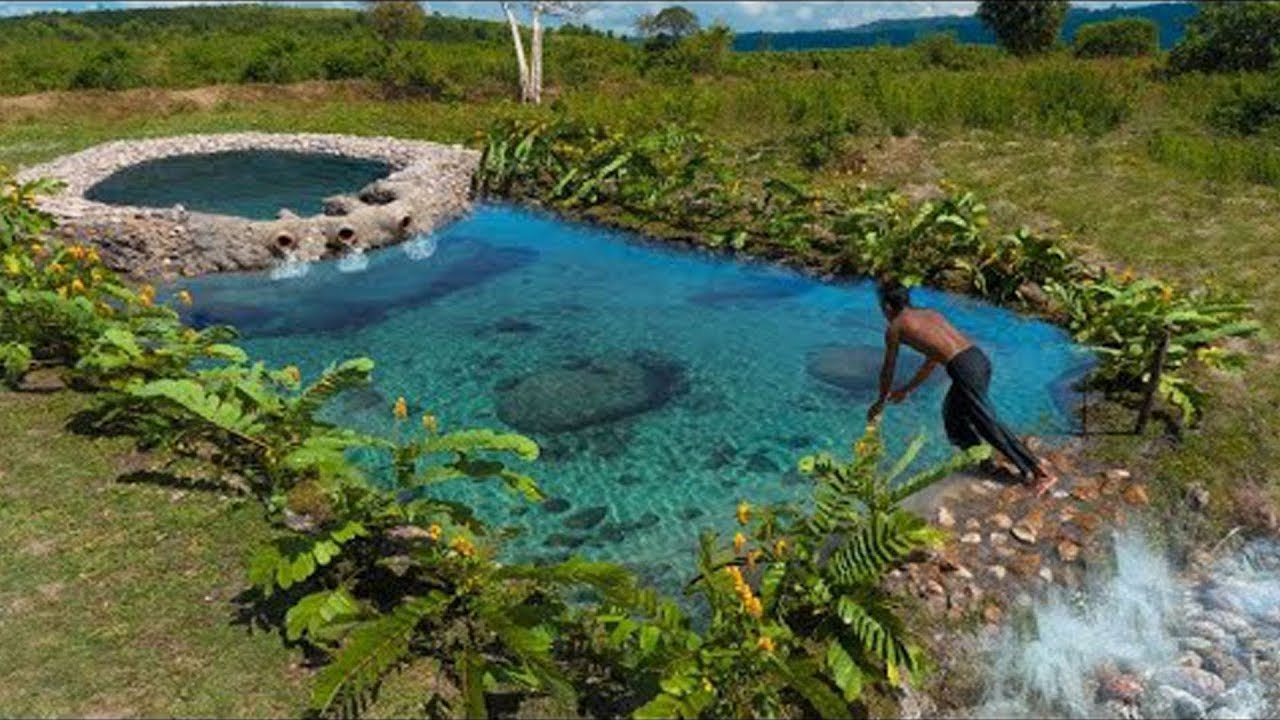 Build The Most Modern Natural Swimming Pool Underground Youtube
