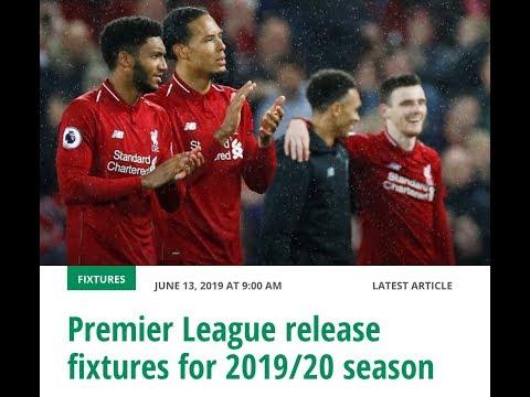 2019/20 Fixtures Release