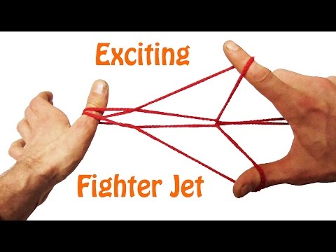 String Tricks! Beginners Fighter Jet String Figure - Tutorial