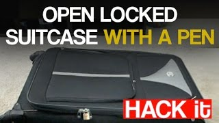 Open Locked Suitcase