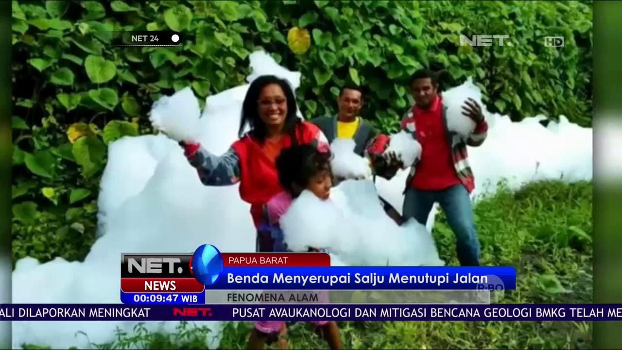 Fenomena Awan Putih Mirip Salju Mengguyur Raja Ampat NET24 YouTube