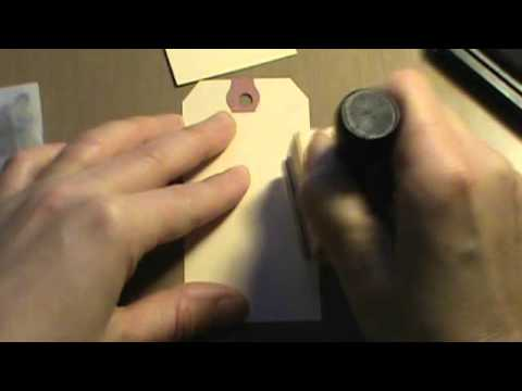 How to ink, distress, age tags for your mini scrapbook albums and cards
