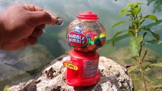 MINI Gumball Machine AQUARIUM! DIY Fishing