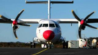 Dat Atr-42 Startup And Landing At Stord Airport, F
