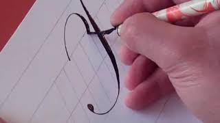 How to Write Copperplate (The Letters F and f)