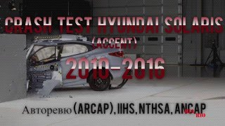 Сборник краш тестов Hyundai Solaris 2010 2016 CRASH TEST Hyundai ACCENT смотреть