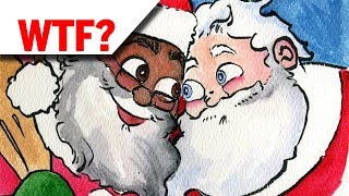 White Liberals Depict Santa Claus as Black Gay Man With White Husband In New Book (REACTION)