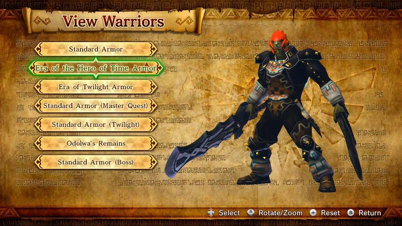 Hyrule Warriors Wii U All Costumes Youtube