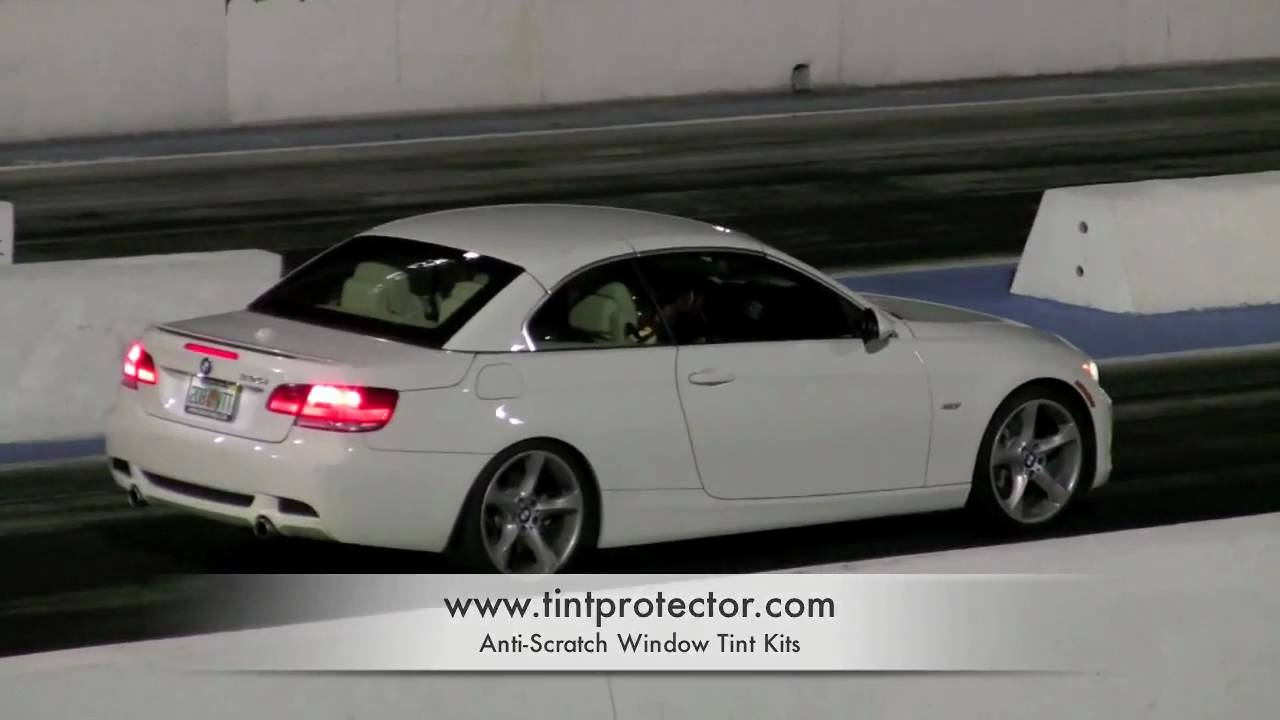 2009 BMW 335i Convertible Drag Racing JB Plus  YouTube