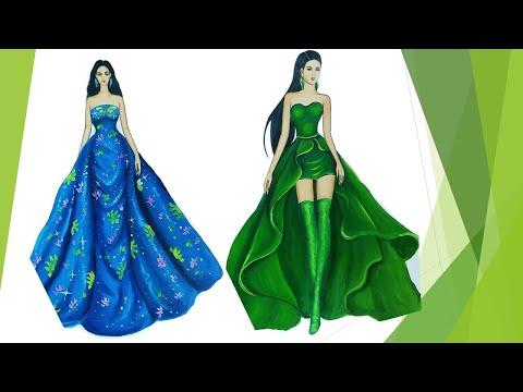 Art Styles Challenge   Fashion illustration Compilation (Speed painting)