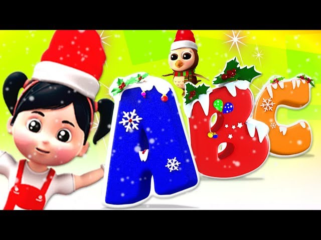 Christmas Abc Song | Learning Videos For Children | Nursery Rhymes For Kids by Farmees
