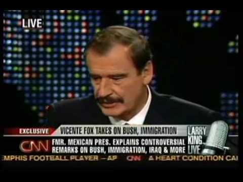 President of Mexico Vicente Fox on North American Union - YouTube