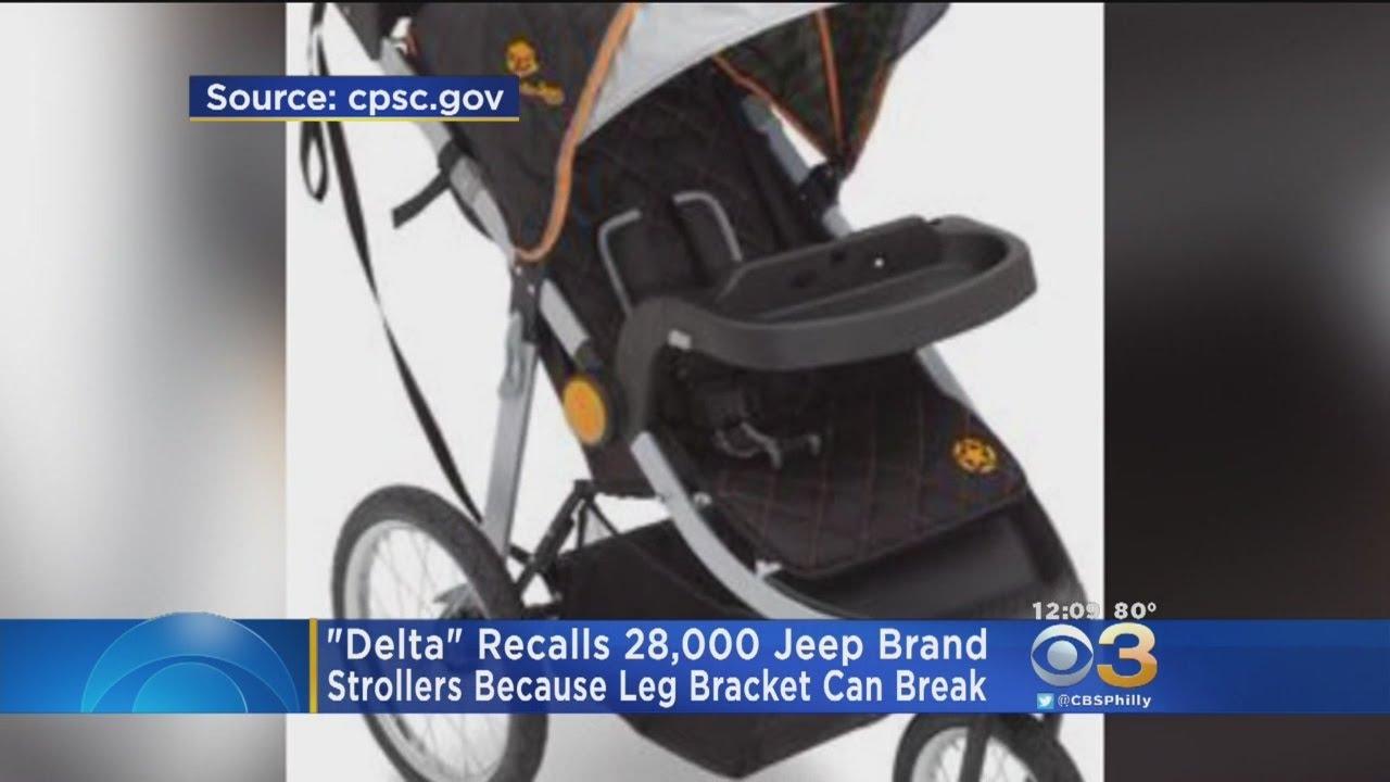 Delta Recalls 28k Jeep Brand Strollers Youtube