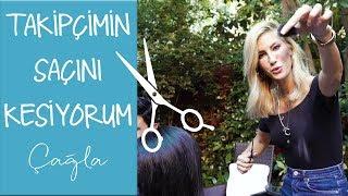 Çağla | Takipçimin Saçını Kesiyorum | Güzellik-Bakım Video