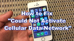 "iPhones: How to Fix ""Could Not Activate Cellular Data Network"""