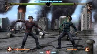 Mortal Kombat 9 Freddy Krueger All Moves X Ray Fatalities And Arcade Ending HD