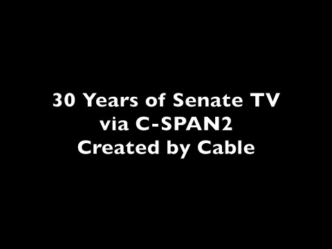 30th Anniversary of Cameras in the Senate on C-SPAN2