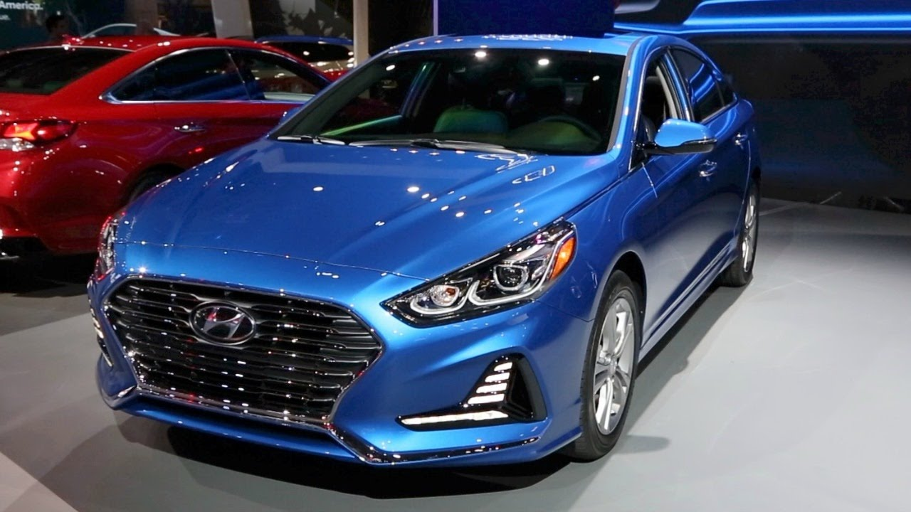 hyundai accent blue 2018. modren 2018 2018 hyundai sonata  2017 new york auto show on hyundai accent blue