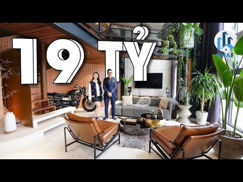 """SIÊU PHẨM """"Industrial Penthouse"""" 3 TẦNG rộng 380m2 Trị Giá 19 TỶ tại Ecopark - NhaF [4K]"""