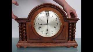Junghans Pfeilkreuz Huge Mantel Clock Westminster Germany Chime Shelf Impressive Xxl
