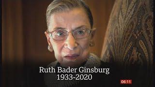 Ruth Bader Ginsburg passes away (1933 - 2020) (USA) - BBC News - 19th September 2020