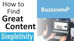 How to Find Great Content (BuzzSumo tutorial)