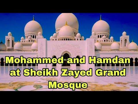 Muhammad and Hamdan at Sheikh zayed Grand Mosque Abudhabi | Dubai Kids