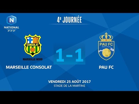 J4 : GS Marseille Consolat - Pau FC (1-1), le replay