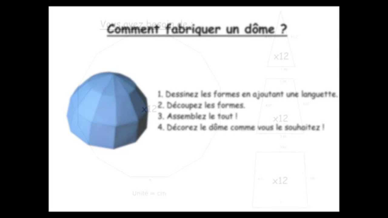 comment faire un d me how to build a dome youtube. Black Bedroom Furniture Sets. Home Design Ideas