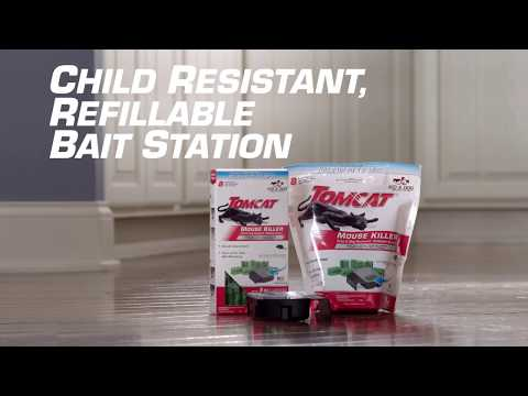 How To Kill Mice Using The Tomcat® Child Resistant Refillable Bait Station