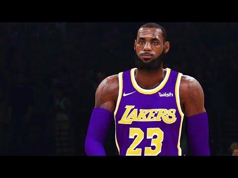 NBA 2K19 Gameplay: LeBron James Lakers vs. Warriors! FULL GAME (NBA 2K19 Gameplay Part 1)