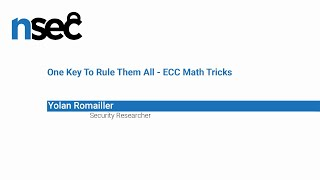NorthSec 2019 – Yolan Romailler – One Key To Rule Them All