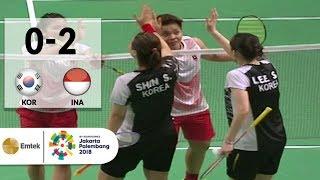 KOR vs INA - Badminton Beregu Putri: Full Highlights - Ganda Putri   Asian Games 2018