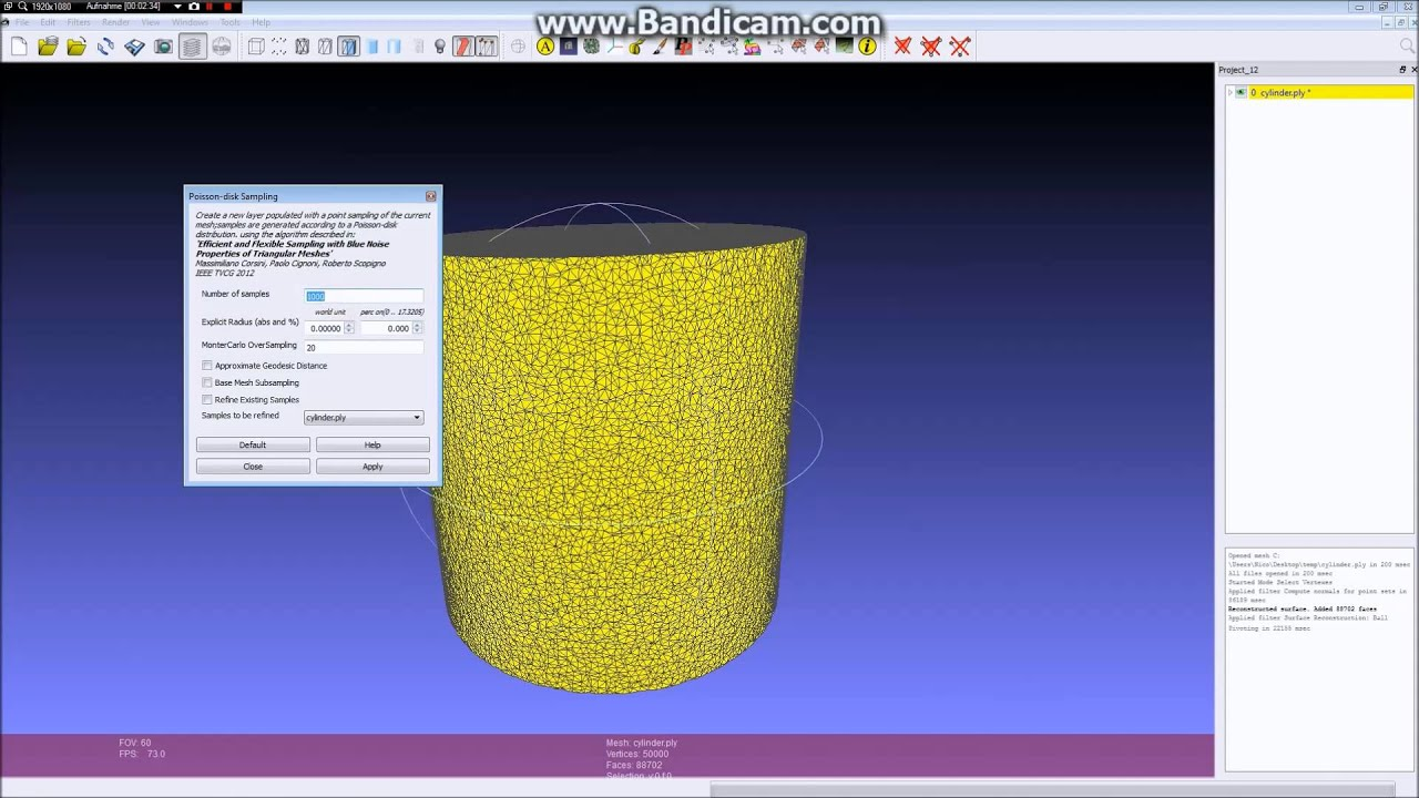 Pointcloud to 3D-Mesh in Meshlab Tutorial auf Deutsch