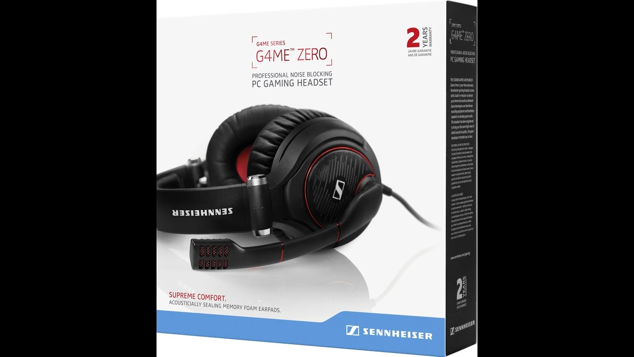 Sennheiser Game Zero Unboxing Youtube