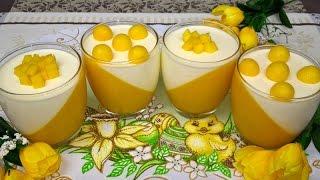 Deser z Mango | Panna Cotta z Mango | Przepis na Deser z Mango