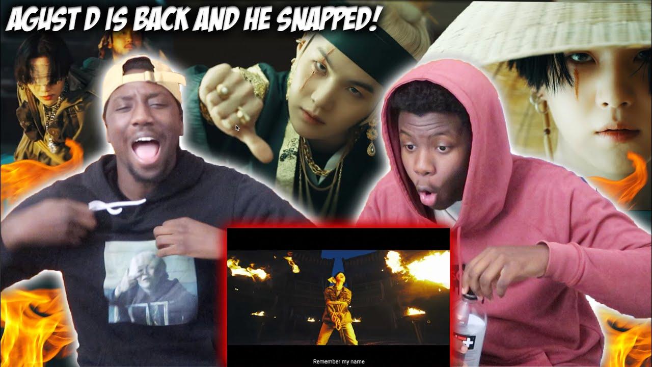 Agust D 대취타 Mv Reaction Youtube