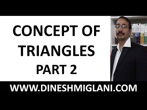 """""""Concept of Triangles Geometry Mensuration Part 2 by Dinesh Miglani"""""""