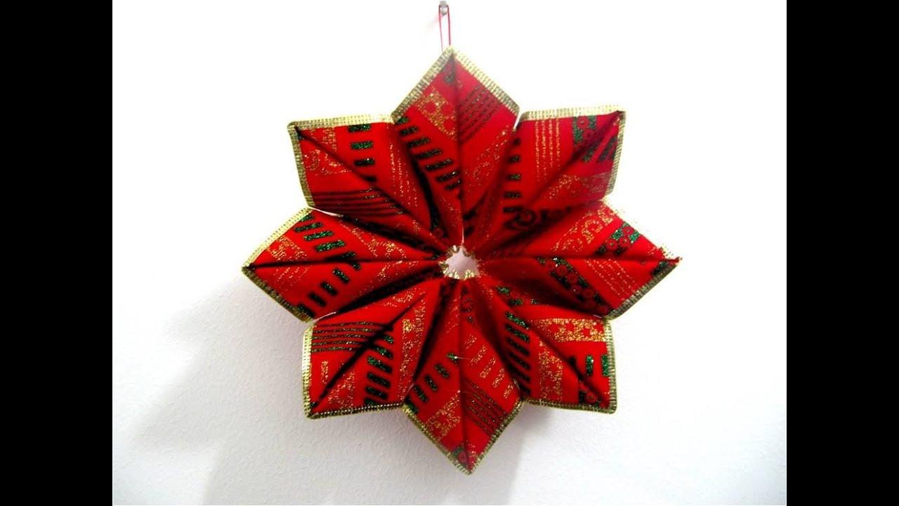 Mo os navide os estrella de rub en cintas paso a paso - Cintas navidad para arbol ...