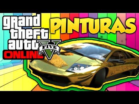 GTA 5 Online Pinturas Extrañas y Raras #6 Combinaciones de Colores Grand Theft Auto V Online