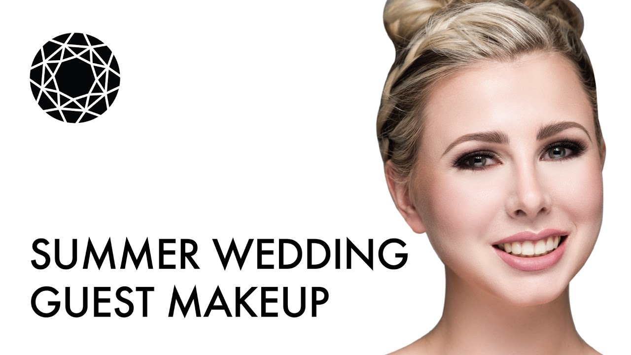 How To: Summer Wedding Guest Makeup Tutorial - YouTube